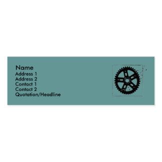 tarjeta del piñón tarjetas de visita mini