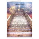 Tarjeta del poema de los DESIDERÁTUMS en la escale