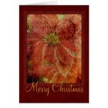 Tarjeta del Poinsettia de las Felices Navidad