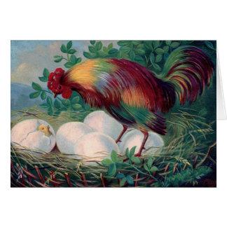 Tarjeta del pollo de Pascua