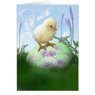 Tarjeta del polluelo de Pascua