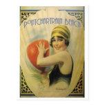Tarjeta del poster de la playa de Pontchartrain Postales