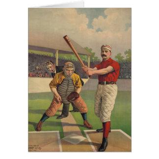 Tarjeta del poster del béisbol del vintage