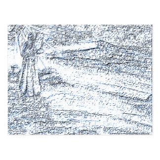 Tarjeta del poster del tinte azul de diez mandamie tarjeta postal