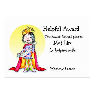 Tarjeta del premio de la recompensa tarjeta de negocio