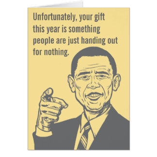 Tarjeta del Premio Nobel de Obama