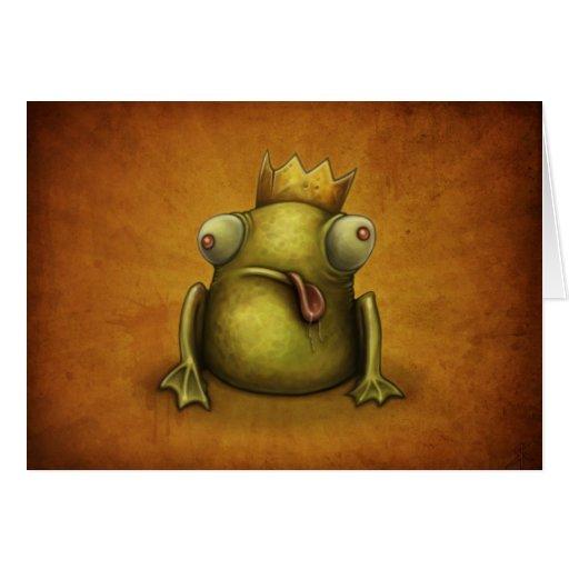 Tarjeta del príncipe felicitación de la rana