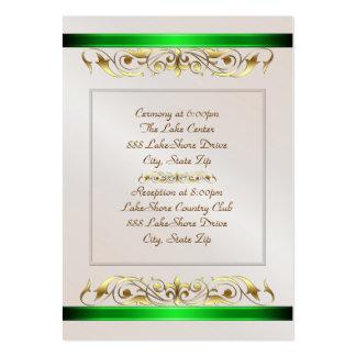 Tarjeta del príncipe y de princesa Green Ribbon Gu Tarjetas Personales