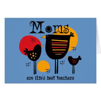 Tarjeta del profesor de la vida de la mamá la mejo