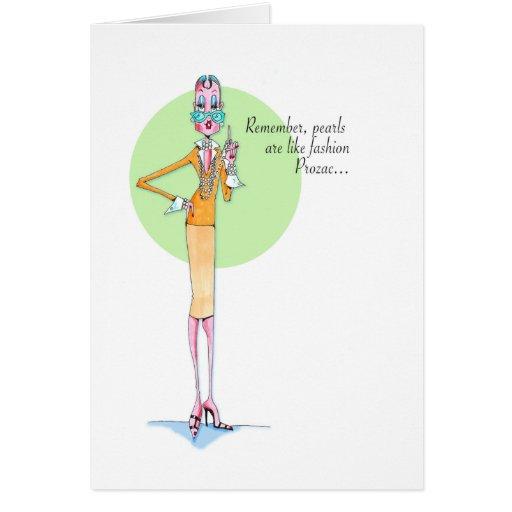 Tarjeta del Prozac de la moda