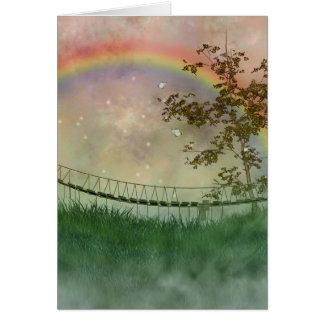 Tarjeta del puente del arco iris