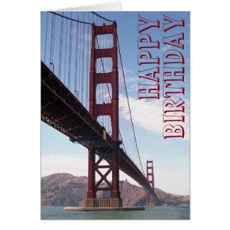 Tarjeta del puente del feliz cumpleaños
