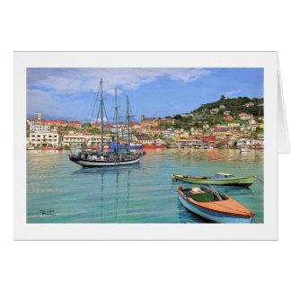 "Tarjeta del puerto de Paul McGehee ""Grenada - San"