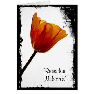 Tarjeta del Ramadán Mubarak - modificada para requ