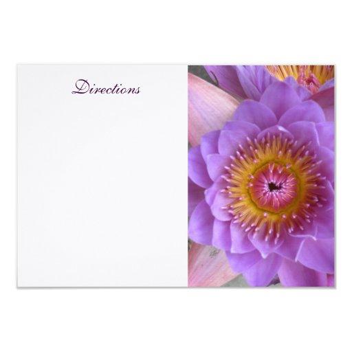 Tarjeta del recinto de la flor de Lotus Comunicado