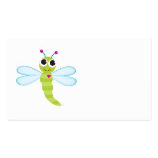 Tarjeta del recinto de la libélula tarjetas de visita