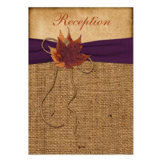 Tarjeta del recinto de la recepción de la arpiller tarjetas de visita