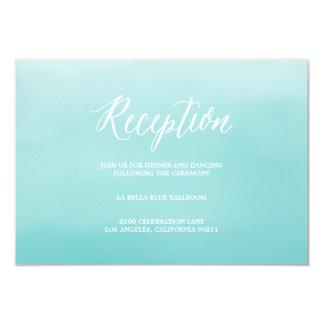 Tarjeta del recinto de la recepción de la playa el invitación 8,9 x 12,7 cm