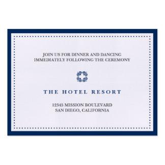 Tarjeta del recinto de la recepción nupcial de la  tarjetas de visita grandes
