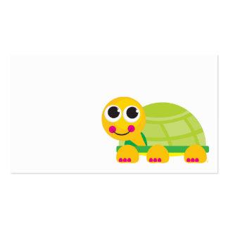 Tarjeta del recinto de la tortuga tarjetas de visita