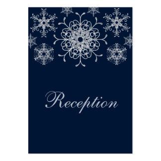 Tarjeta del recinto de los copos de nieve de la MI Tarjetas De Negocios