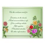 Tarjeta del recinto de los Wildflowers Invitación 10,8 X 13,9 Cm