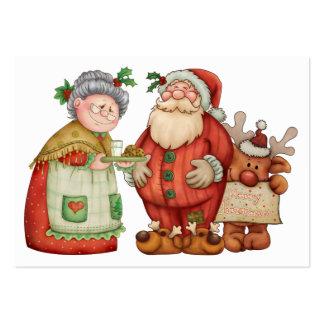 Tarjeta del recinto de Santa del navidad/etiqueta Tarjetas De Visita Grandes