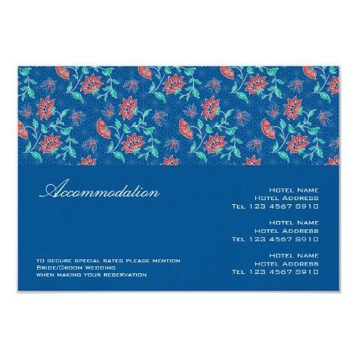 """Tarjeta del recinto del boda de Aiyana Invitación 3.5"""" X 5"""""""