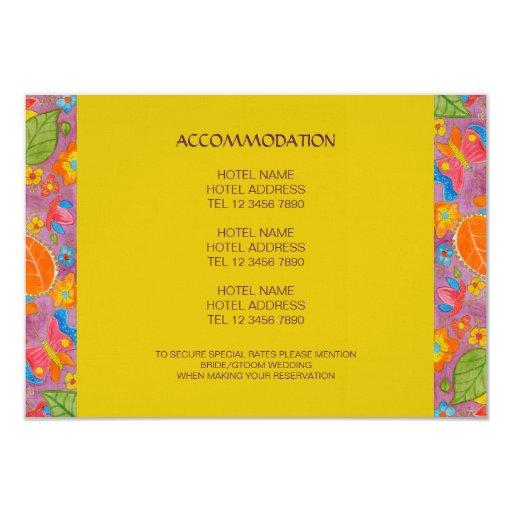 """Tarjeta del recinto del boda de Ganesh Invitación 3.5"""" X 5"""""""