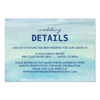 """Tarjeta del recinto del boda del océano de la invitación 3.5"""" x 5"""""""