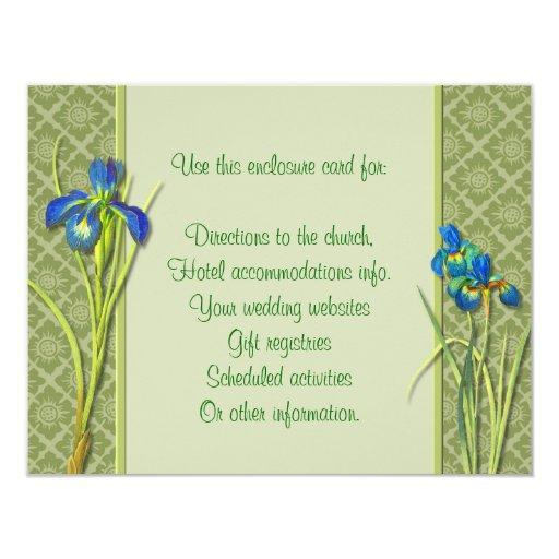 Tarjeta del recinto del jardín del iris invitación 10,8 x 13,9 cm