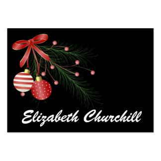 Tarjeta del recinto del navidad/etiqueta - SRF Tarjetas De Visita Grandes