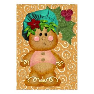 Tarjeta del recinto del pan de jengibre/etiqueta - tarjetas de visita grandes