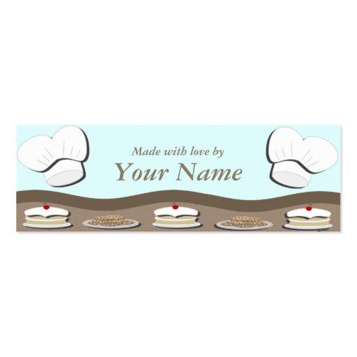 Tarjeta del recinto del regalo de la comida tarjeta de negocio