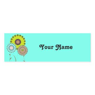 Tarjeta del recinto del regalo de las flores plantillas de tarjeta de negocio