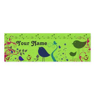 Tarjeta del recinto del regalo de los pájaros tarjetas de visita mini
