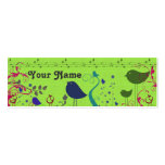 Tarjeta del recinto del regalo de los pájaros tarjetas de visita