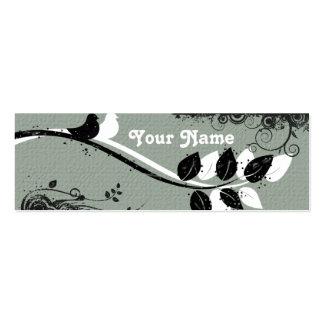 Tarjeta del recinto del regalo de los pájaros plantilla de tarjeta de negocio