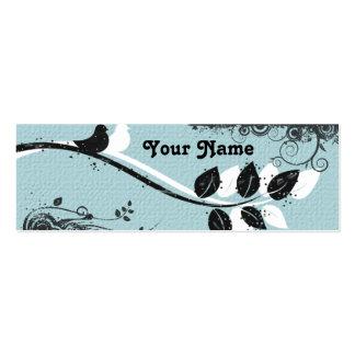 Tarjeta del recinto del regalo de los pájaros tarjeta de negocio