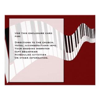 Tarjeta del recinto del teclado anuncio personalizado