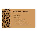 Tarjeta del recordatorio de la cita del leopardo plantillas de tarjetas de visita