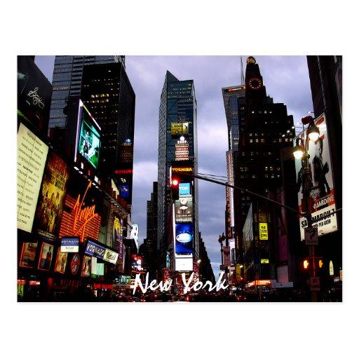 Tarjeta del recuerdo de Nueva York de la postal de