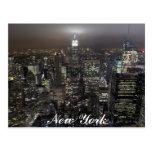 Tarjeta del recuerdo de Nueva York del paisaje urb