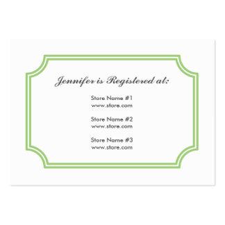 Tarjeta del registro con el modelo cuadrado de tarjetas de visita grandes