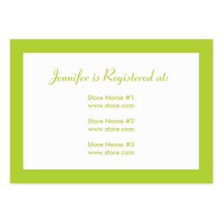 Tarjeta del registro de la fiesta de bienvenida al tarjeta personal