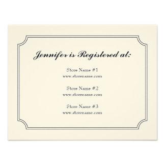 Tarjeta del registro de la tela escocesa del Dogwo Invitacion Personalizada
