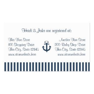 Tarjeta del registro del bebé de las rayas del anc tarjeta de negocio