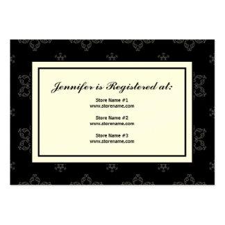 Tarjeta del registro del boda del invierno en B&W Tarjetas De Visita Grandes
