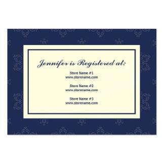 Tarjeta del registro del boda del invierno en tarjetas de visita grandes