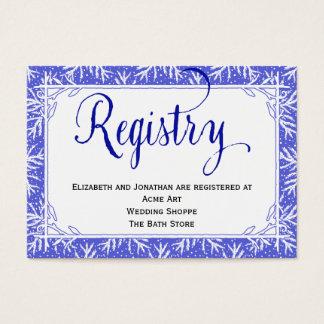 Tarjeta del registro del boda del país de los tarjetas de visita grandes